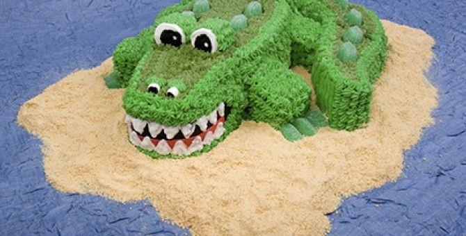 Top 10 cake ideas for kids ~4~crocodile Cake