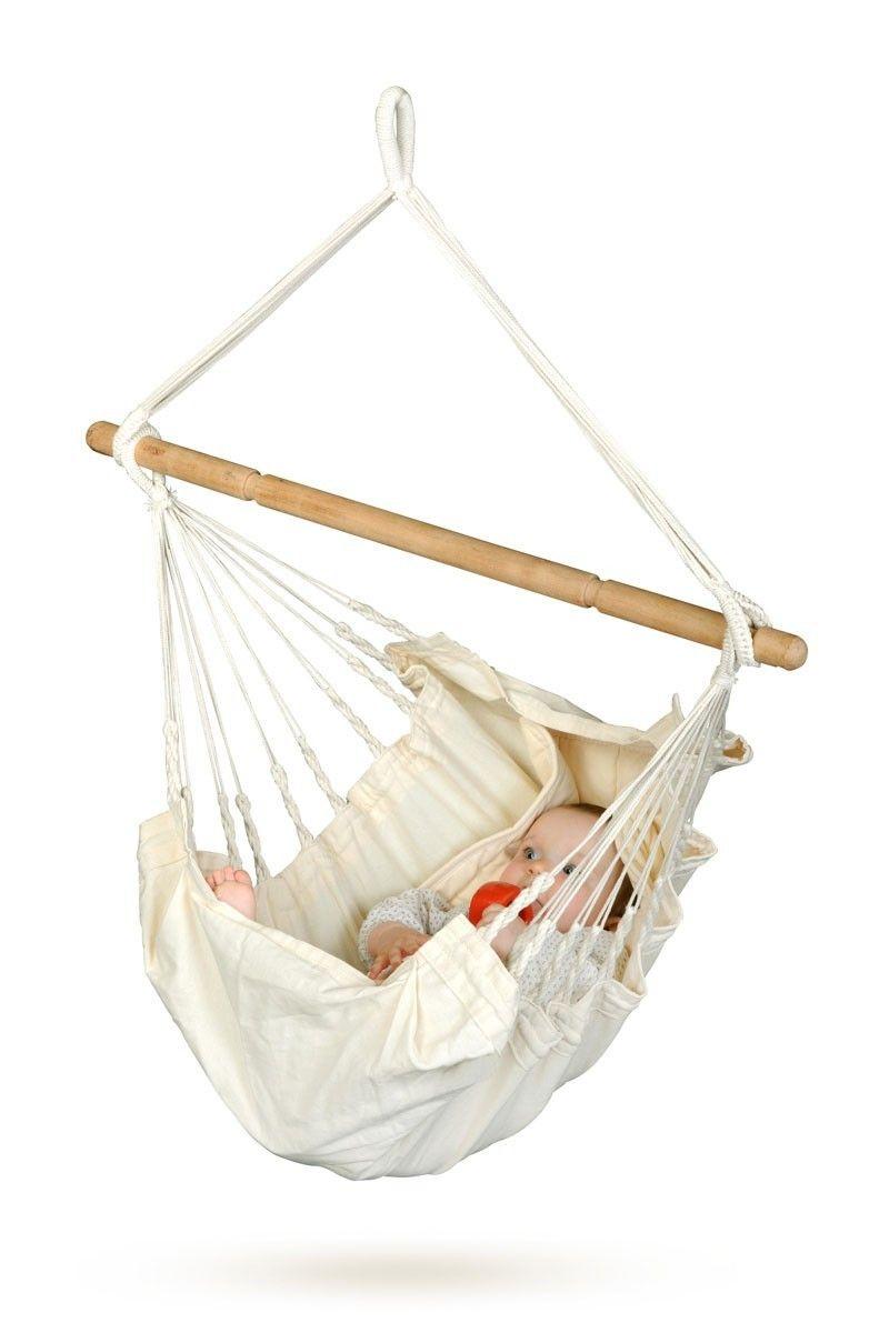 Organic baby hammock yayita model ecru color baby hammock