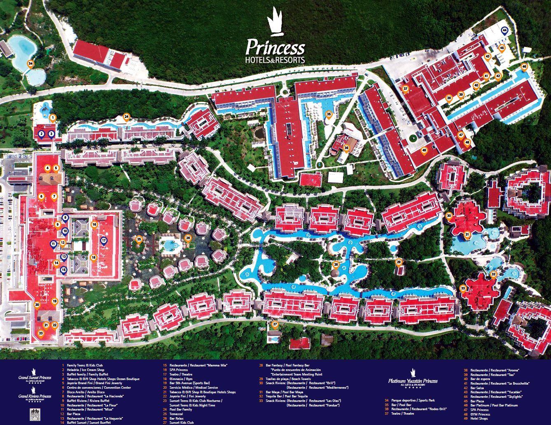 Grand Sunset Princess Resort Map Layout In 2019 Grand