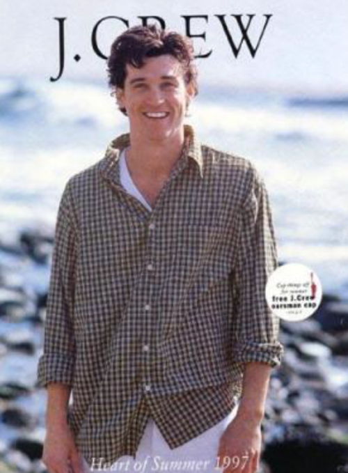Why Yes That Is Patrick Dempsey On The Cover Of A 1997 Jcrew