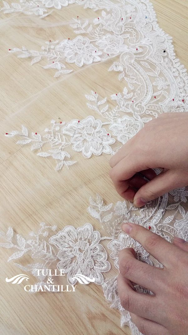 Handmade Lace Wedding Dress With Bottom Sewing Details