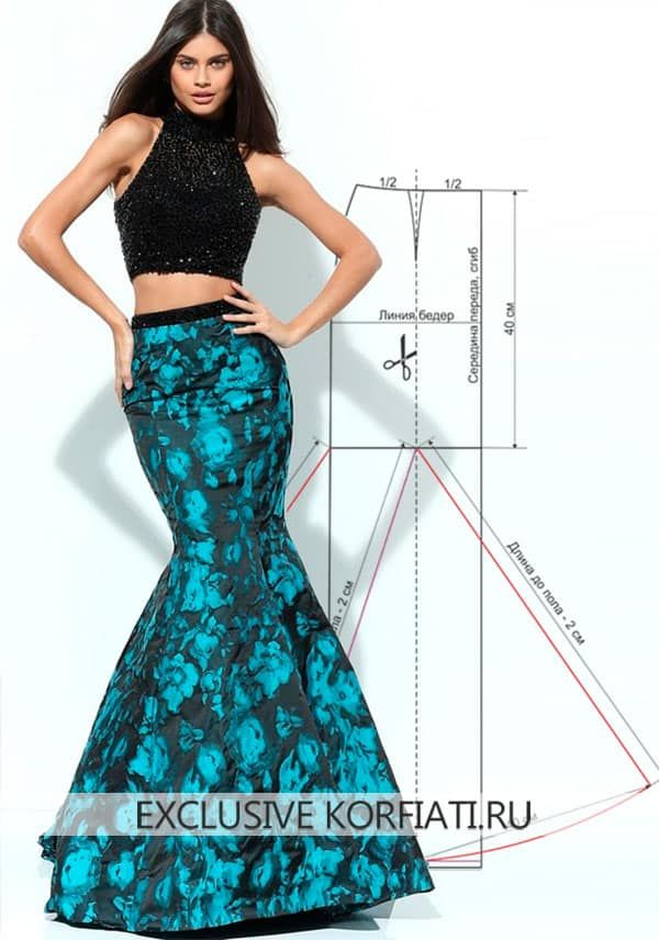 Patrón de falda larga Año   diseños para señoritas   Pinterest ...