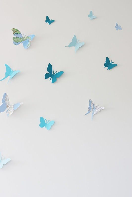 butterflies on the wall, cute as a backdrop for toddler photography