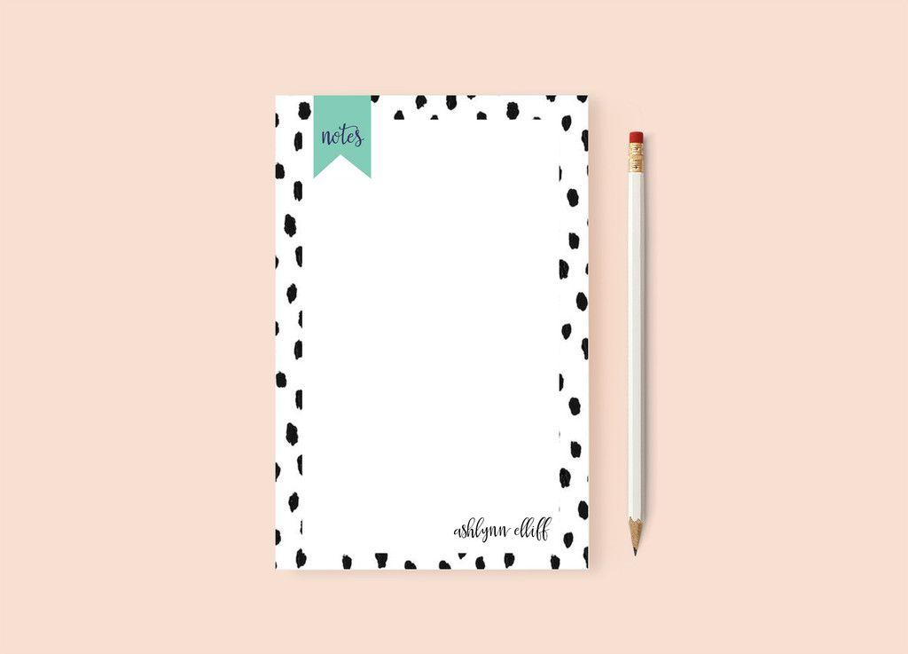 Spotty Dots Notepad | Impress Design Studio