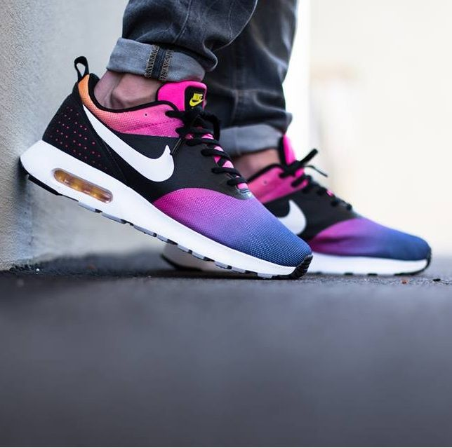 Nike Air Max Tavas: MulticolourBlack | Nike leather, Nike