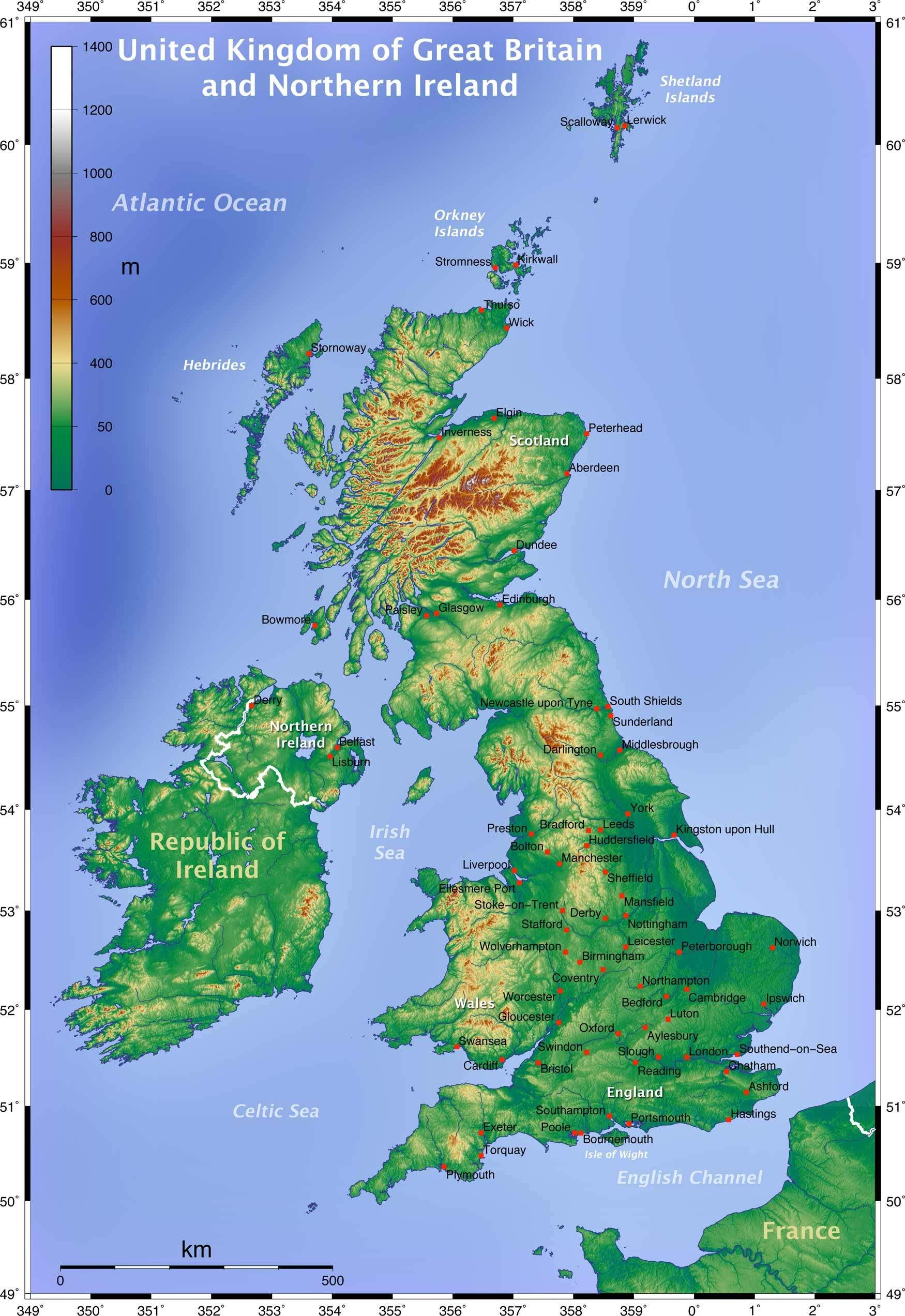 Topographic Map Of The Uk Mapsofnet An Underwater Life - Sweden map topographic