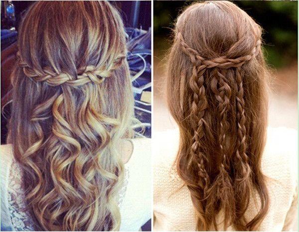 Acconciature capelli media lunghezza treccia