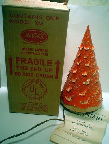 Econolite Roto Vue Merrie Merrie Christmas Tree Motion Lamp 1950 S Vintage Christmas Tree Vintage Christmas Vintage Holiday