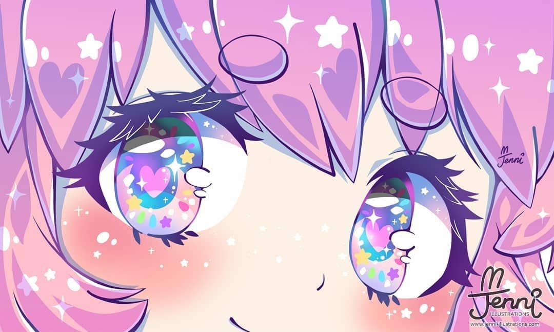 Playing With A Lot Of Colours Rainbow Rainboweyes Pastel Unicorn Galaxy Prettyeyes Unicorn Artwork Cute Kawaii Drawings Cute Drawings