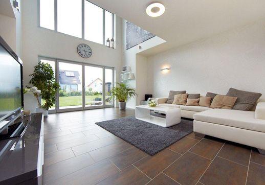 energieeffizientes einfamilienhaus individuell geplant - modell ... - Wohnzimmer Mit Galerie Modern