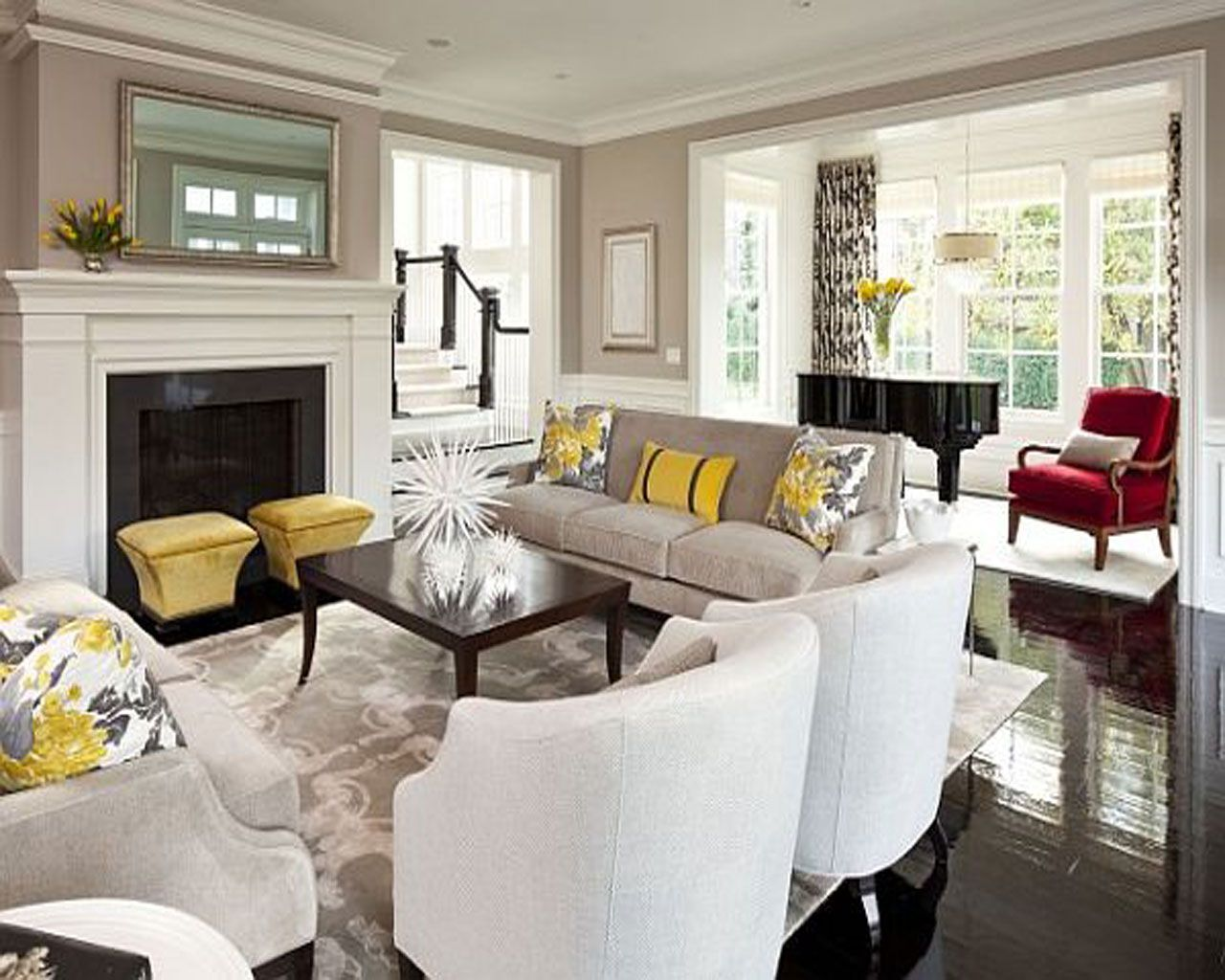 Beau This Living Room Has The Feel Of Contemporary Elegance. Instead Of Having  One Large Area