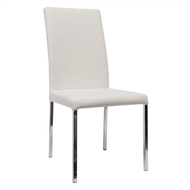 silla de comedor de diseo modelo guadiana en color blanco roto precio