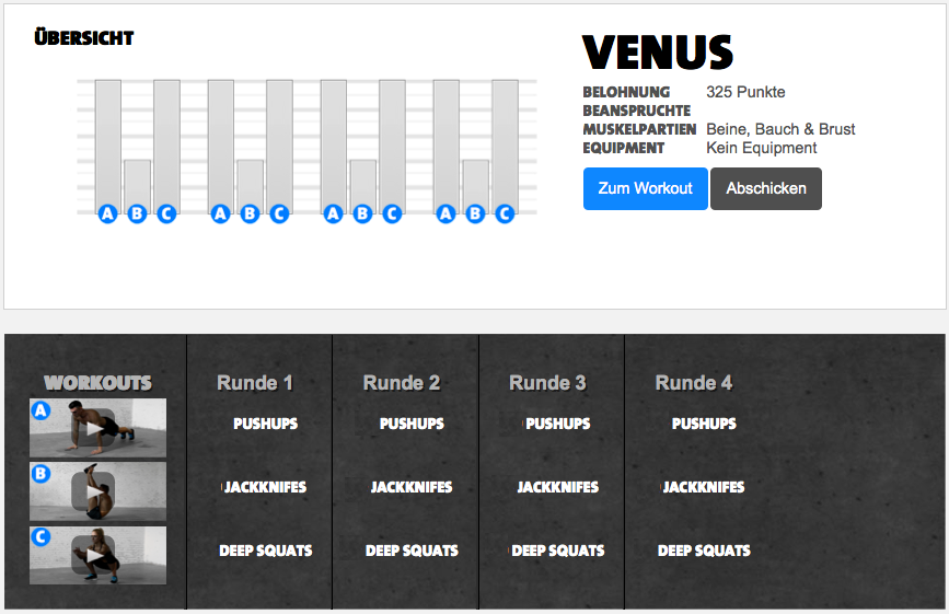 Freeletics Workout Venus   freeletics   Pinterest   Workout, Http ...