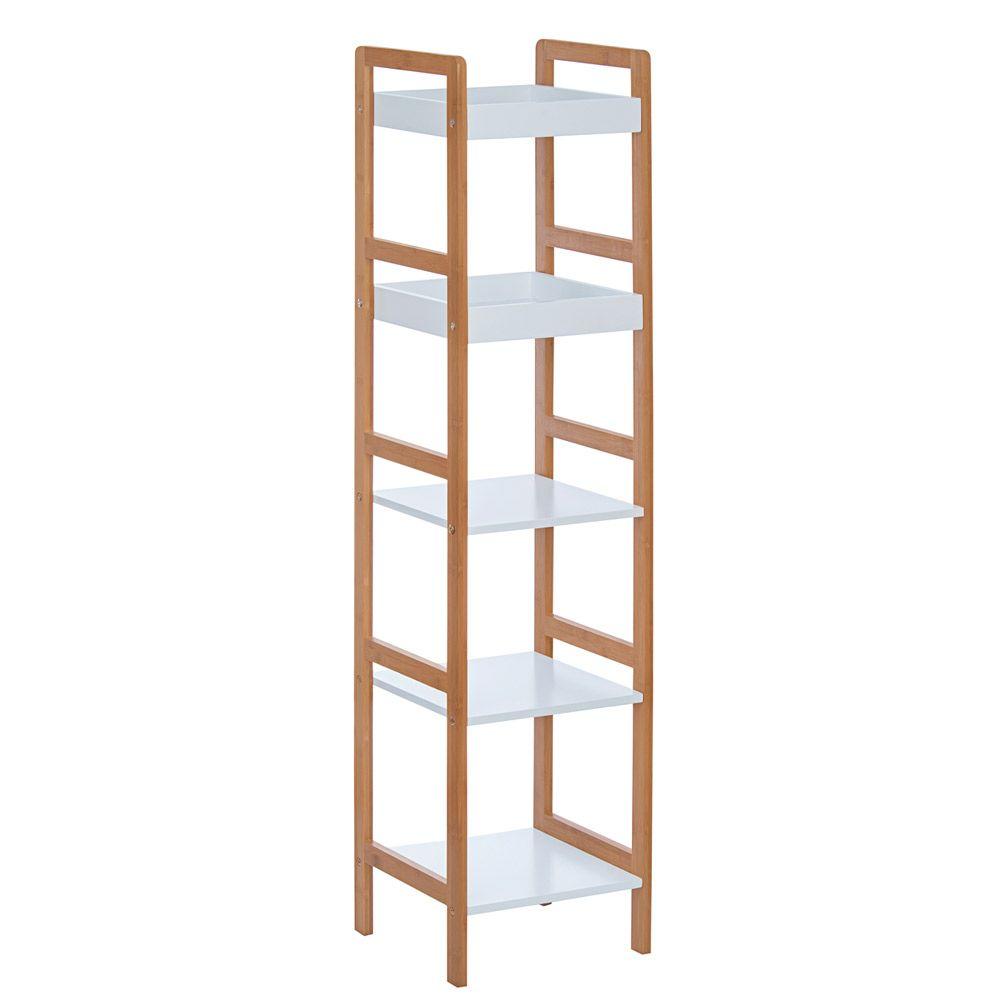 Mueble De Bamb Con 5 Repisas De Almacenamiento Casa Ideas  # Muebles Debambu