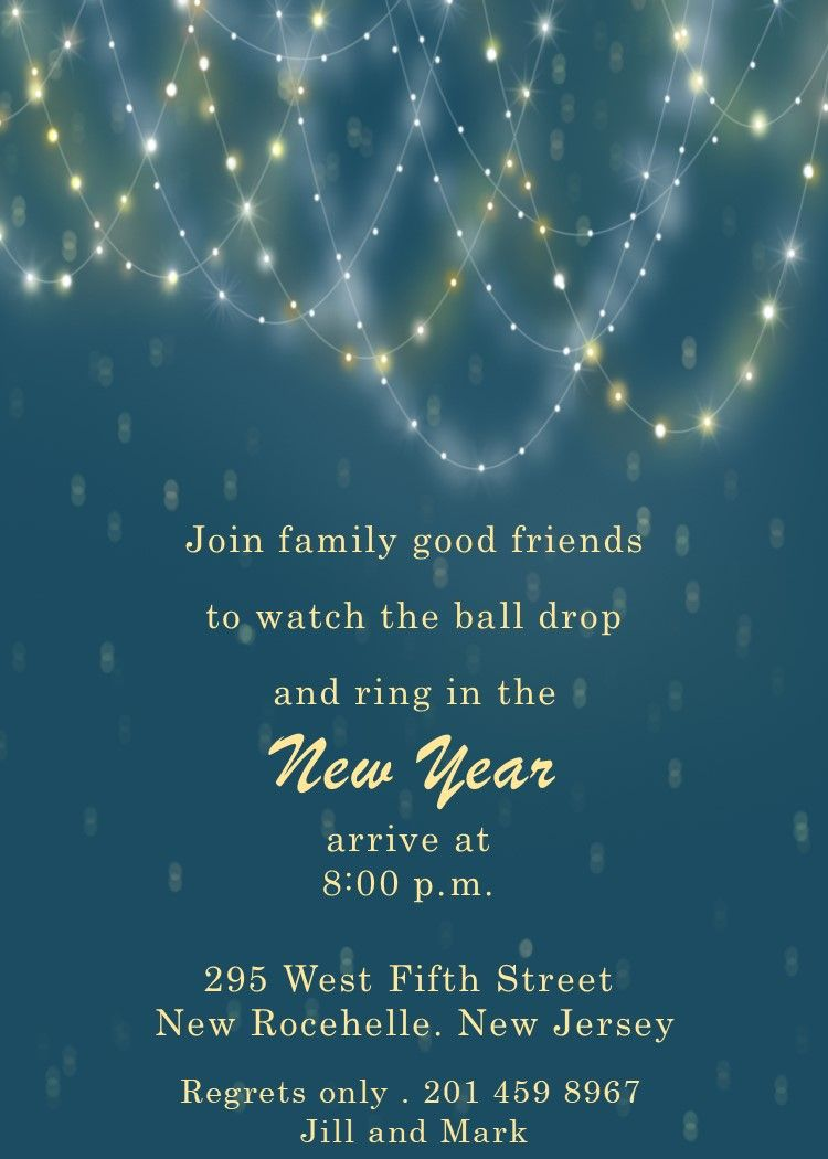 Light Chains New Years Eve Party Invitations New Years Eve Party Party Invitations New Years Eve Invitations