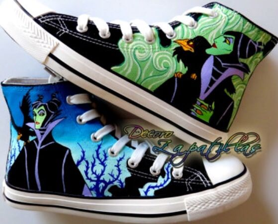 f11a7c20a2b3 Maleficent painted shoes