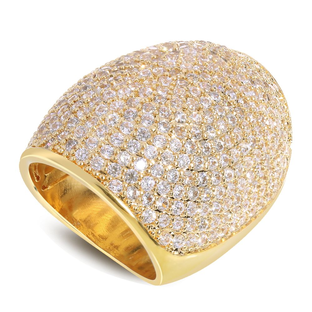 New arrival gold/ white color with cubic zirconia Ring copper ...