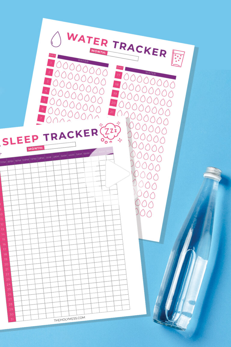Use this free printable sleep tracker to monitor how much sleep you get each night. Improve your sle...