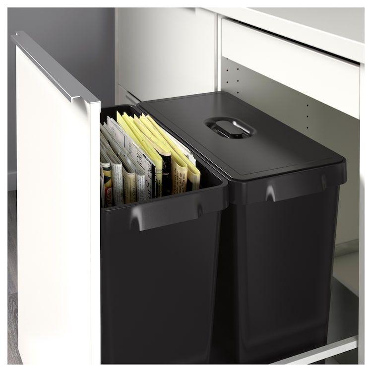 Variera Bac De Recyclage Noir 14 Gallon 52 L En 2020 Bacs De Recyclage Poubelle Tri Et Poubelle