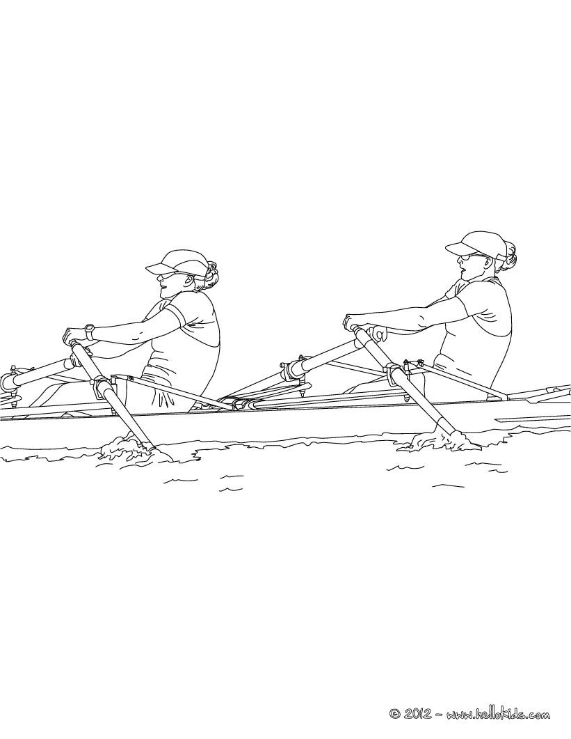 Rowing Race coloring page. More sports coloring pages on hellokids ...