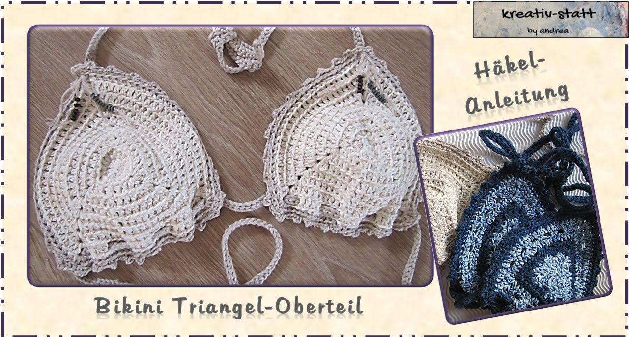 Häkeln Kostenlose Anleitung Bikini Triangle Oberteil Crochet