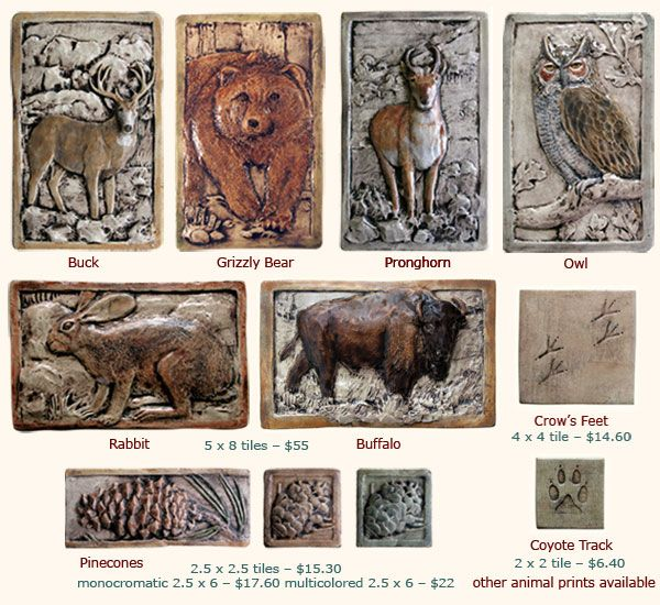 Buck Grizzly Bear Pronghorn Owl Rabbit Bison Crow