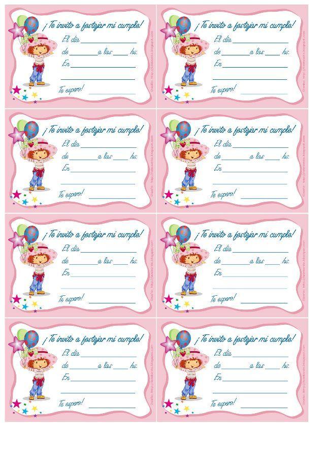 99 Invitaciones De Cumpleaños Para Niños Y Niñas Para