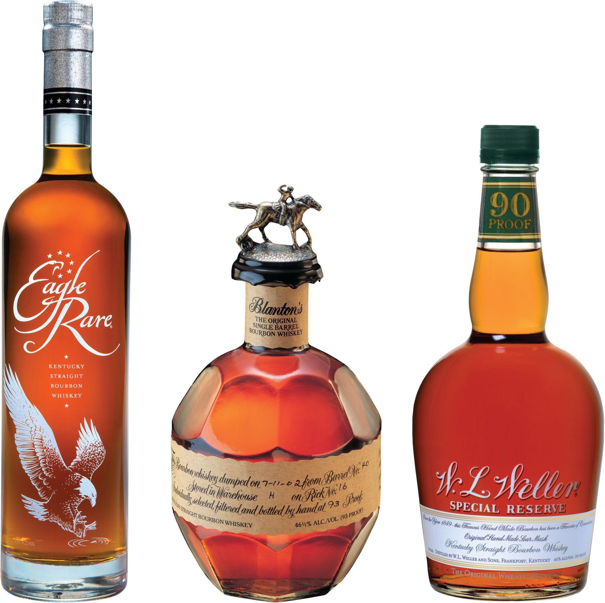 Caskers Selection Blanton S Eagle Rare Weller Special Reserve Bourbon Set Caskers Exclusive Single Barrels Bourbon Wine Bottle Bottle