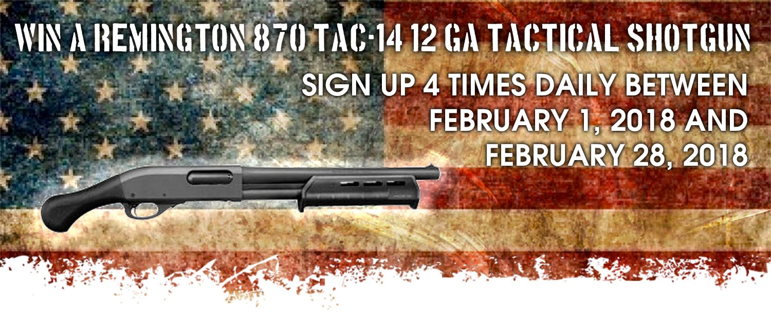 Gun giveaway sweepstakes by december 2018