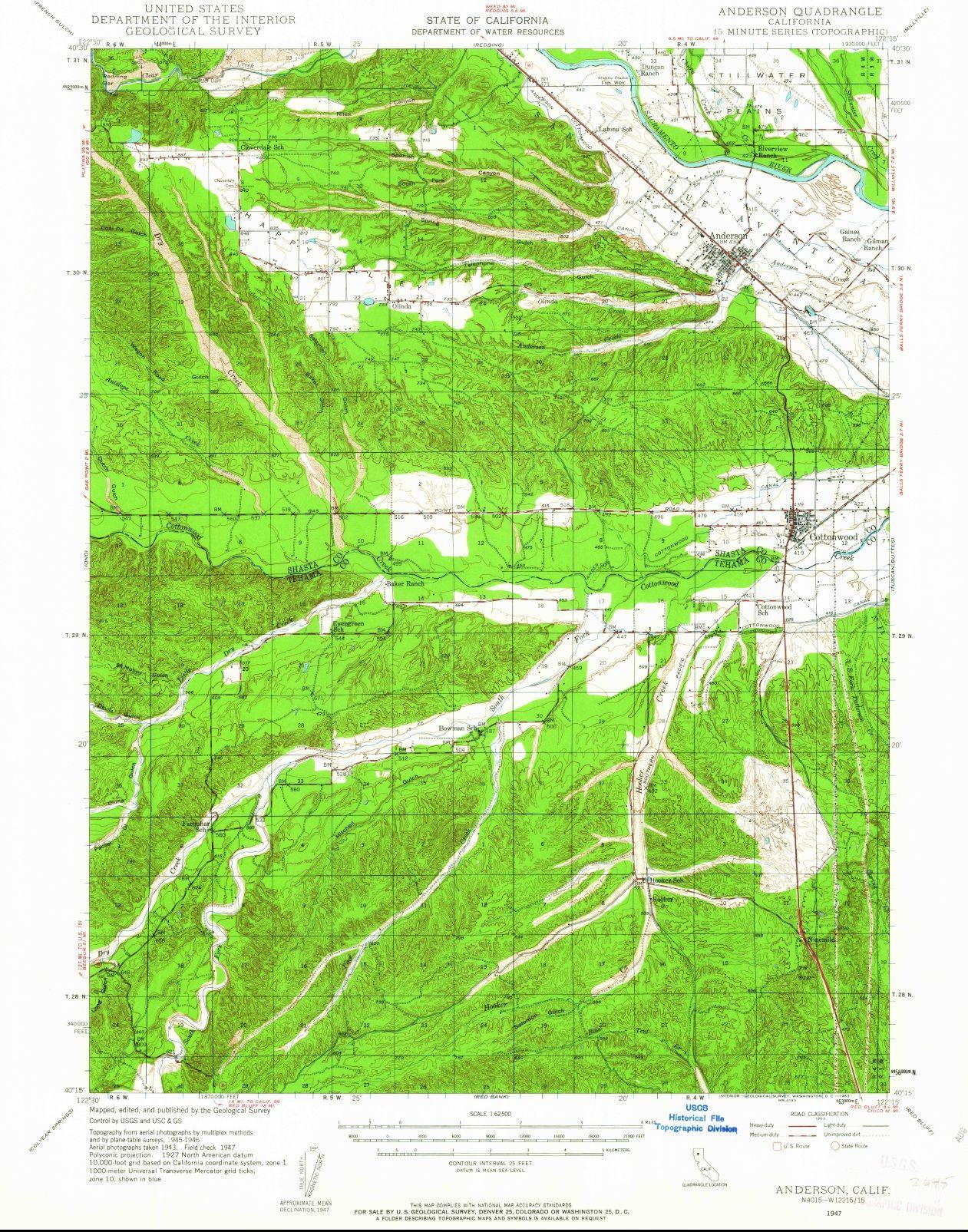 Anderson Historic Map Survey 1947