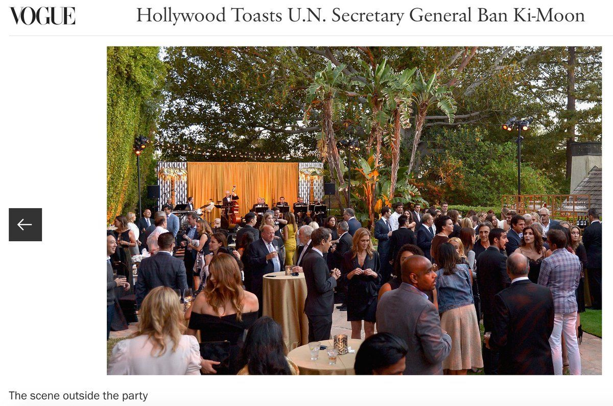 Stana Katic at the special event for UN Secretary-General Ban Ki-moon - Aug 10, 2016