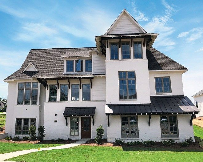 Best New Construction Home With Painted Brick Exterior White 400 x 300