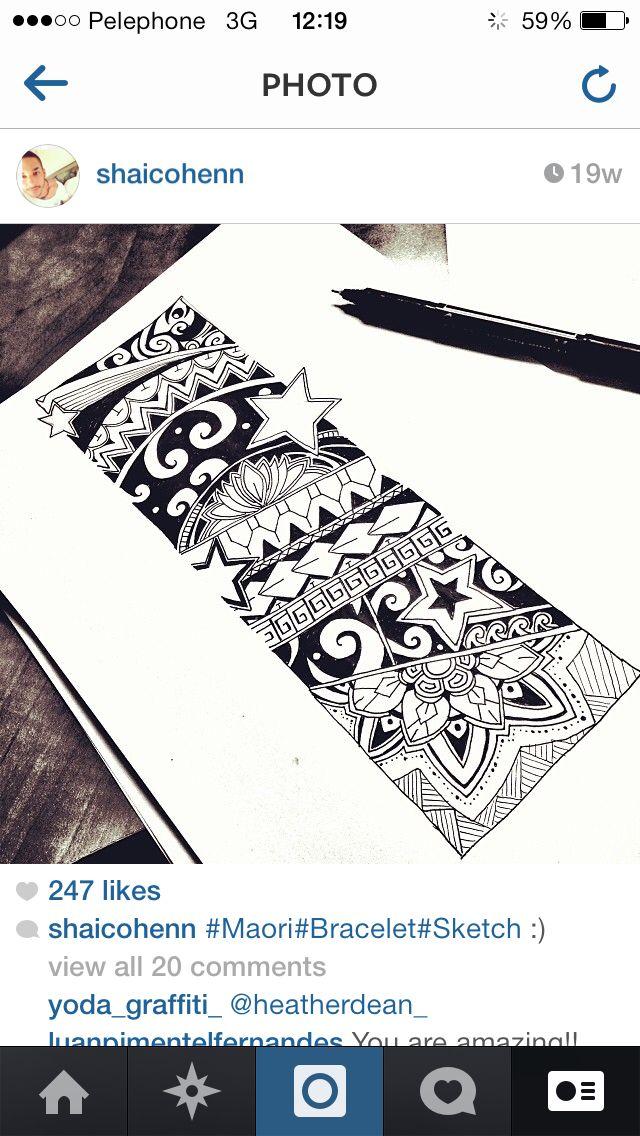 Maori Psychedelic Bracelet Bracelete Maori Faixa Maori E