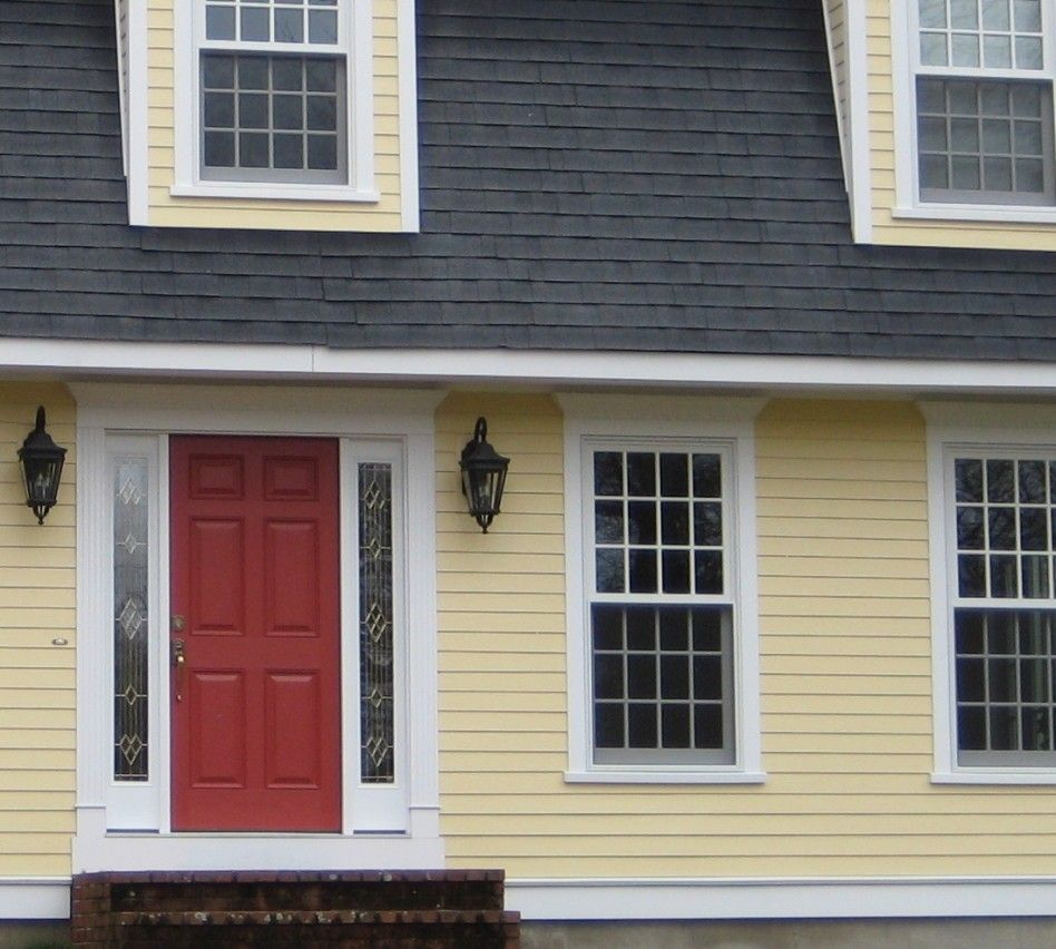 Exterior, : Great Ideas For Home Exterior Design Using Light Yellow  Exterior Paint Color Including