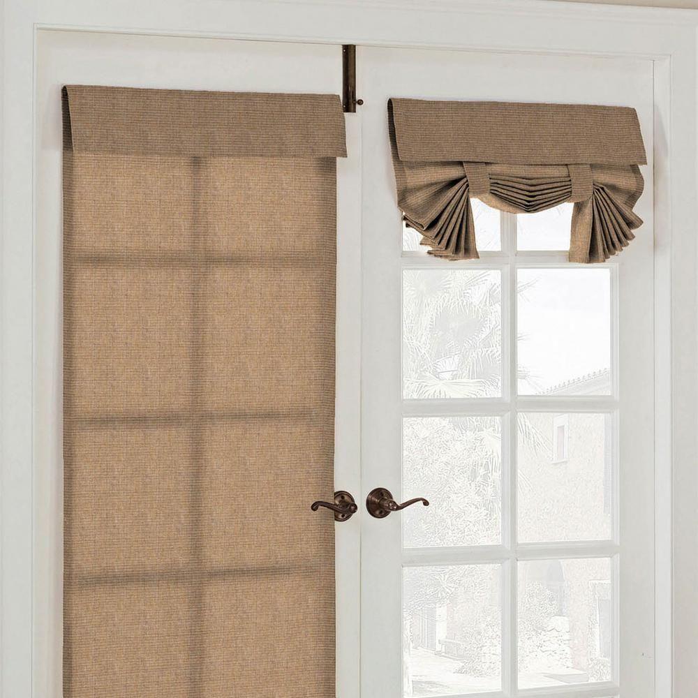 Parasol Key Largo French Door Window Panel In Caramel 26 In W X 68 In L 15930026068cam The Home Depot French Doors Bedroom Door Shades French Doors