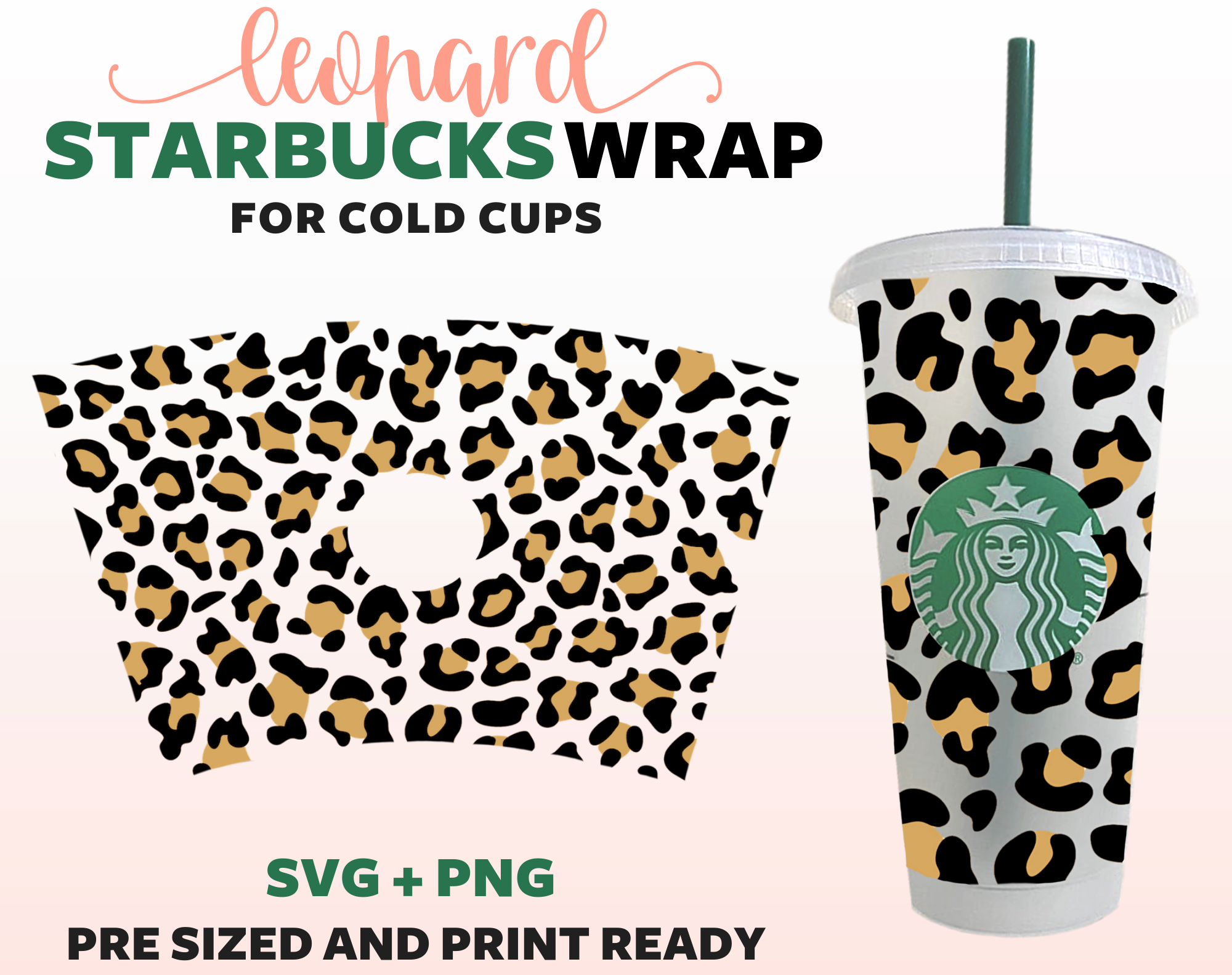 Leopard Print Starbucks Cup Svg Starbucks Cold Cup Svg Digital Download In 2020 Starbucks Cups Cold Cup Custom Starbucks Cup