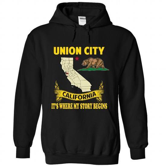 Union City It's Where My Story Begins T Shirts, Hoodies, Sweatshirts. GET ONE ==> https://www.sunfrog.com/No-Category/Union-City--Its-where-my-story-begins-7051-Black-Hoodie.html?41382