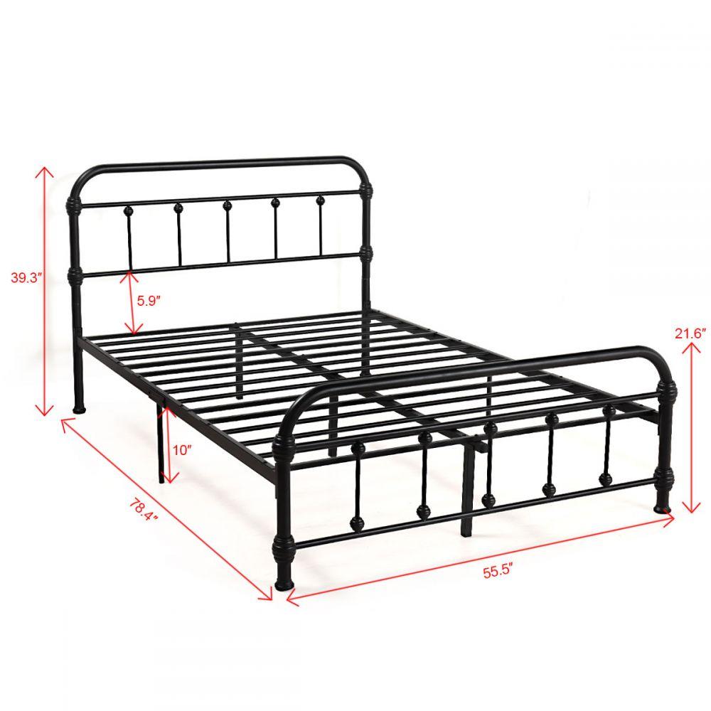 Low Profile Queen Metal Bed Frame Platform Bed Full In 2020