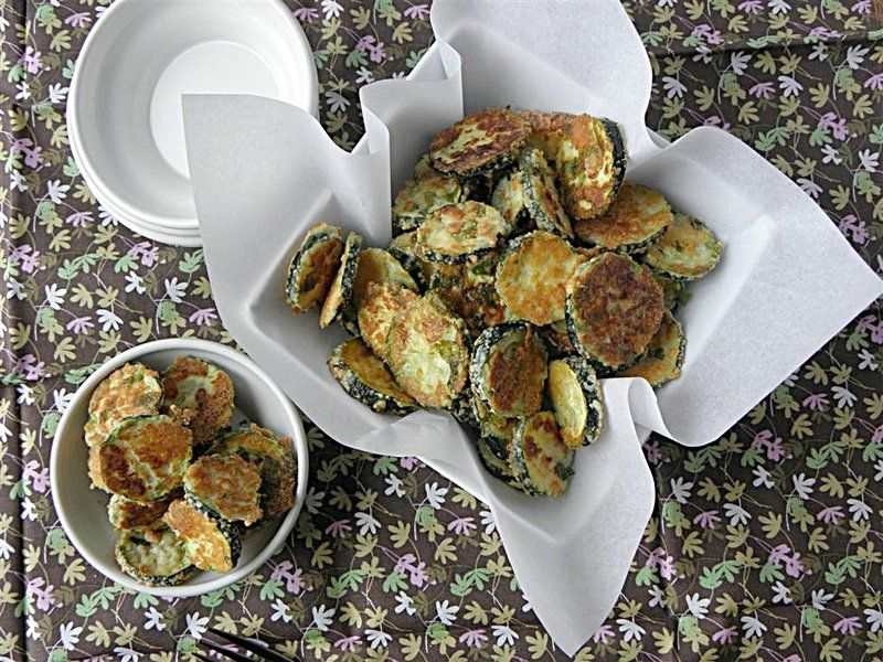 Oven Fried Parmesan Zucchini Rounds
