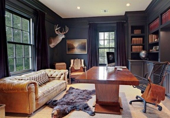 Of Course, I Would Like The Offices That Were Designed For Men! 33 Stylish  And Dramatic Masculine Home Office Design Ideas