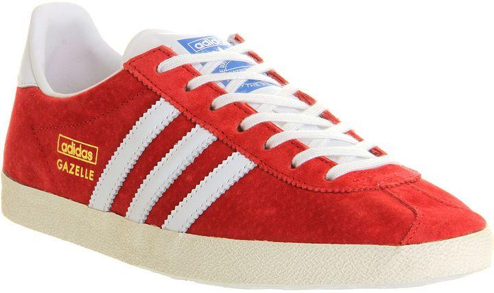 adidas gazzella og uniforme rosso - bianco - i suoi allenatori scarpa pinterest