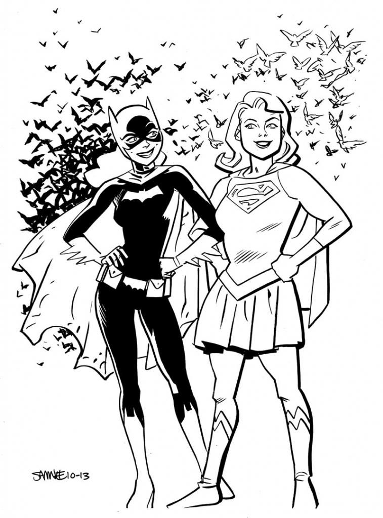 Batgirl & Supergirl - Chris Samnee