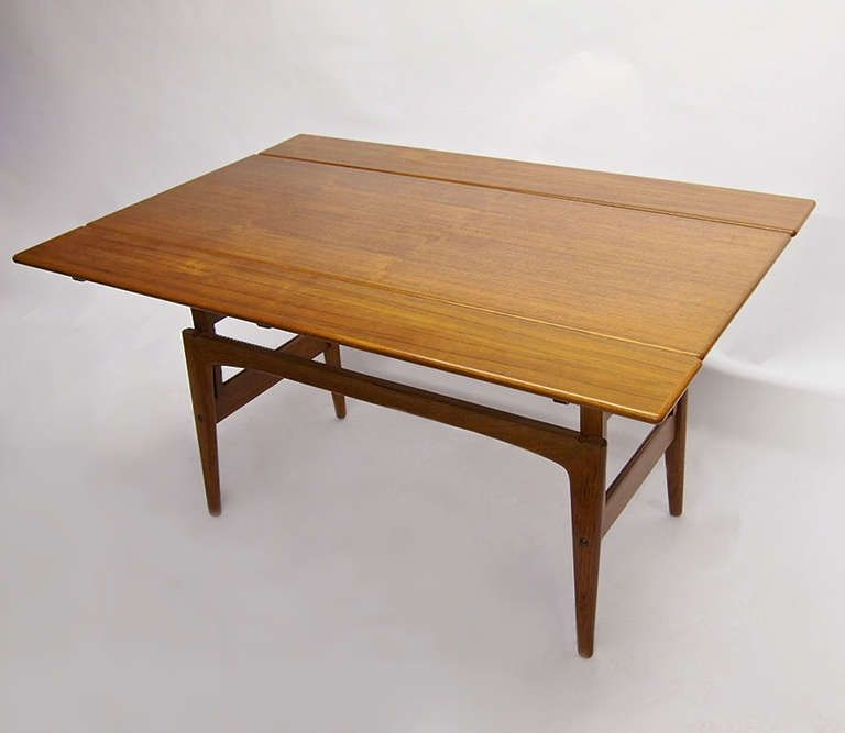Teak Table Adjustable Height By Kia Kristiansen For Trioh Made In Denmark 1962 Image 2 Adjustable Height Table Teak Table Table