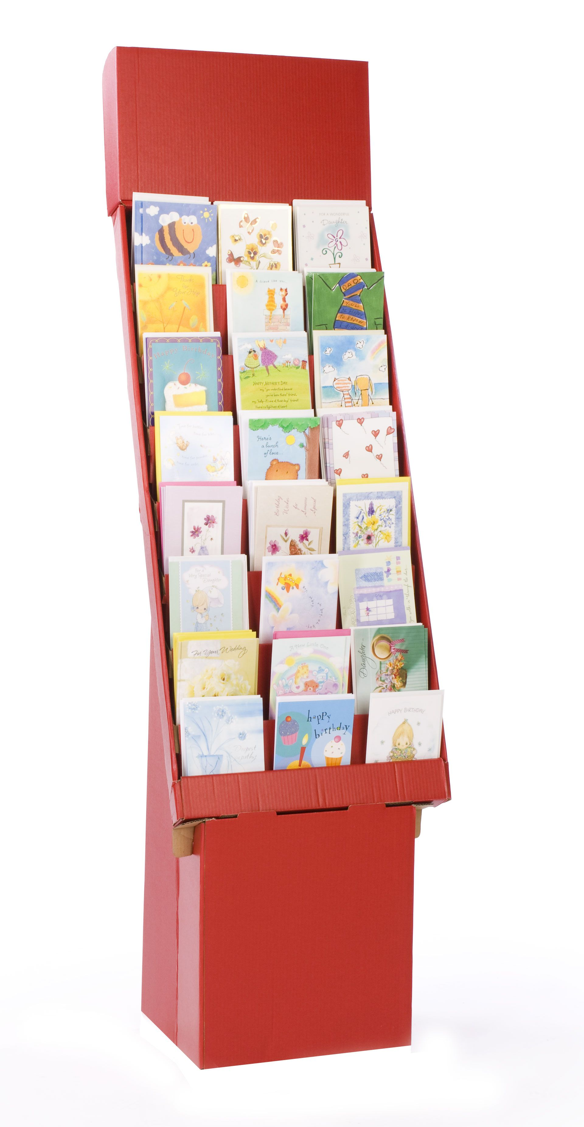 8 tiered cardboard greeting card display for floor removable header 8 tiered cardboard greeting card display for floor removable header red kristyandbryce Gallery