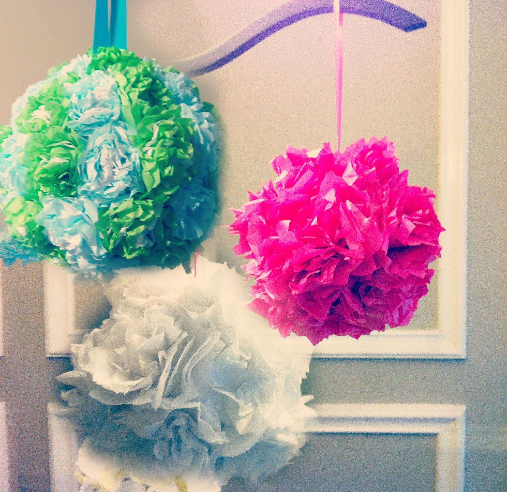 Tissue Paper Ball Decorations Tissue Paper Pomanders How To Make Flower Balls Diy Wedding