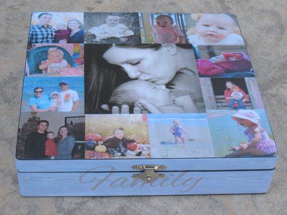 Personalised Newborn Babys Photo Album//Scrapbook//Memory Gift With Box
