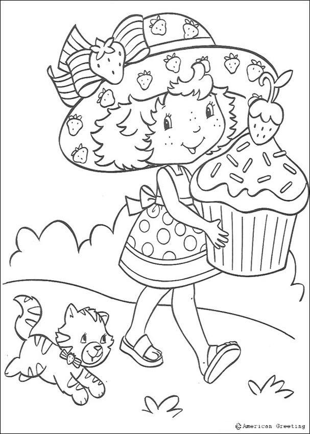 Dorable Cumpleaños De Fresa Shortcake Para Colorear Embellecimiento ...