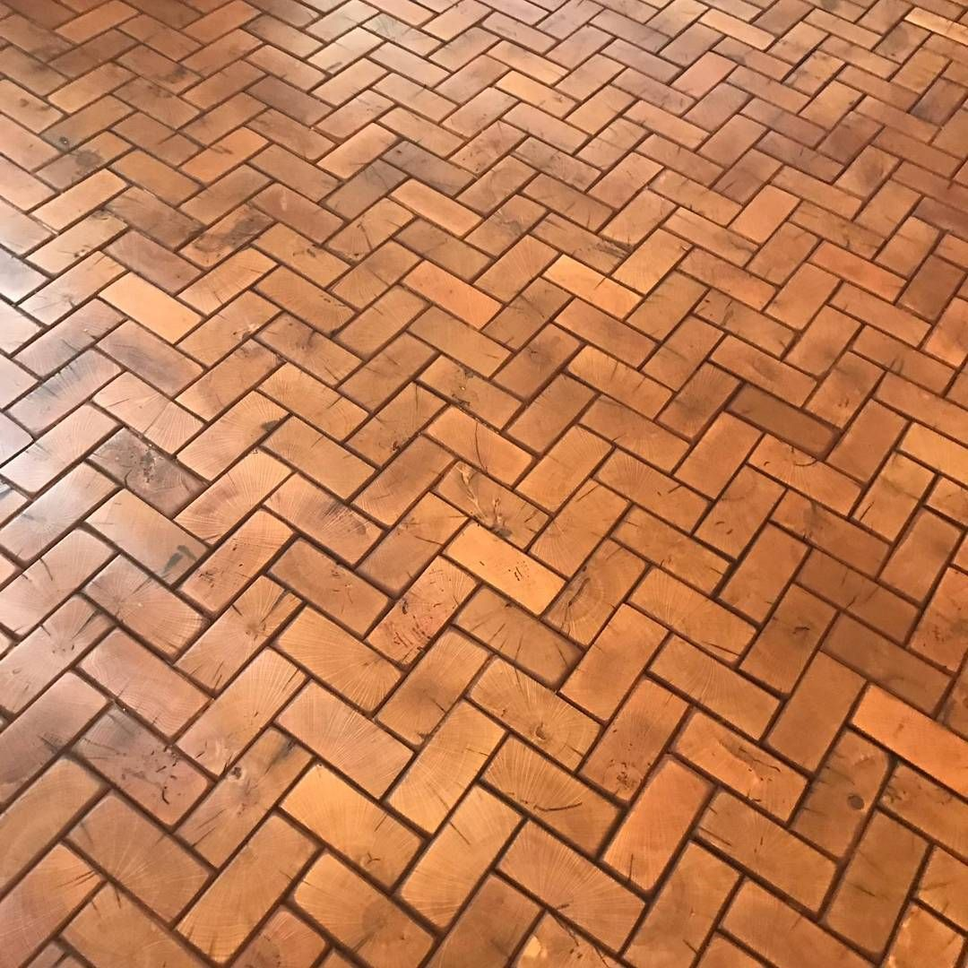 Wood End Grain Flooring - Herringbone