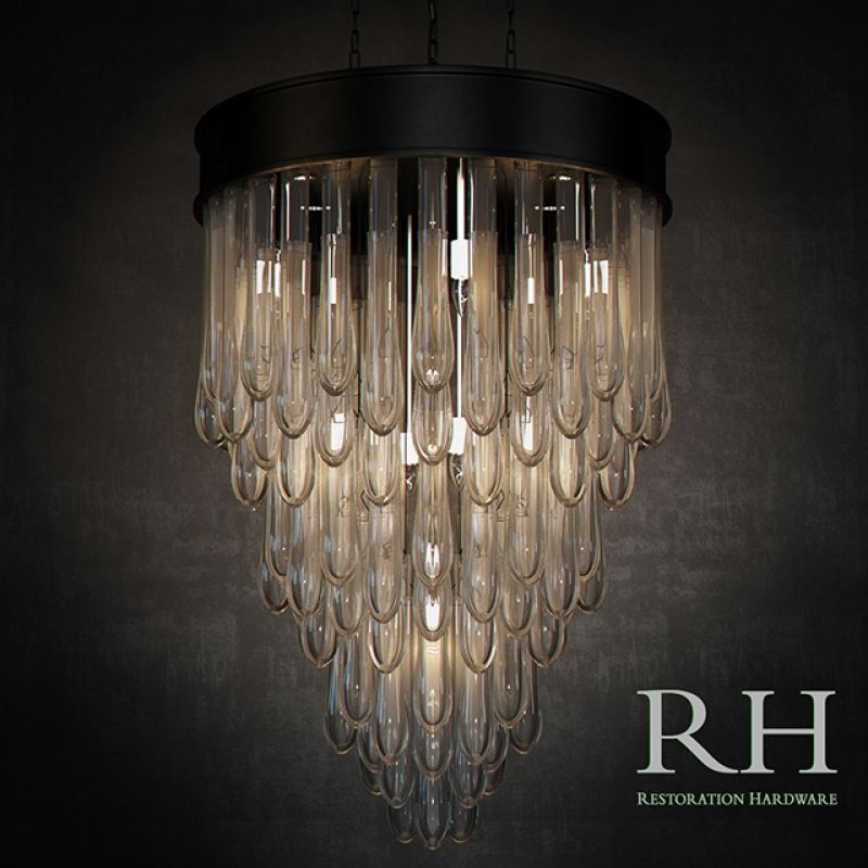Restoration hardware teardrop glass chandelier 3d model lighting restoration hardware teardrop glass chandelier 3d model aloadofball Image collections