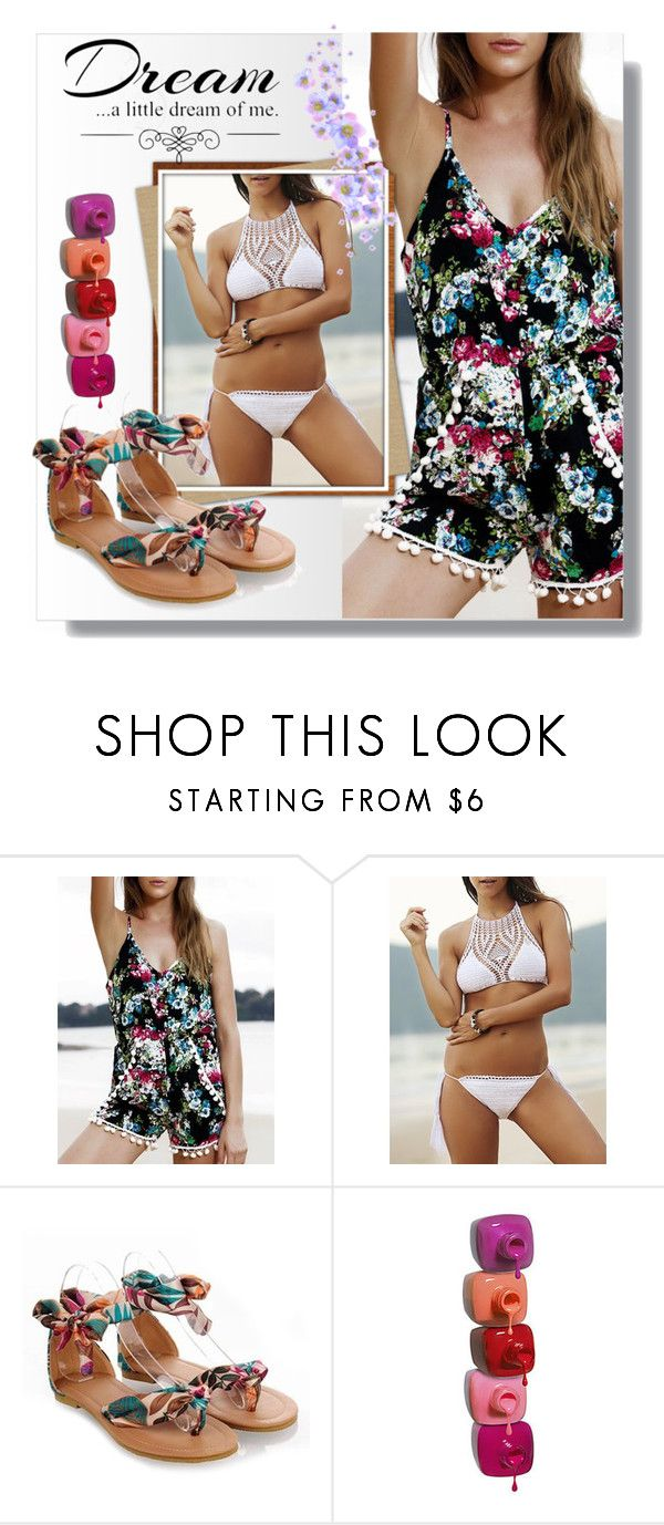 """""""beach time- rosegal 52"""" by pamelica ❤ liked on Polyvore featuring Love Quotes Scarves"""